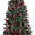 Krebs & Sohn 20er Set Glas Christbaumkugeln-Weihnachtsbaum Deko zum Aufhängen-Weihnachtskugeln 5,7 cm-Bordeaux, Rot/Sterne, (5,7cm Ø Durchmesser) - 4