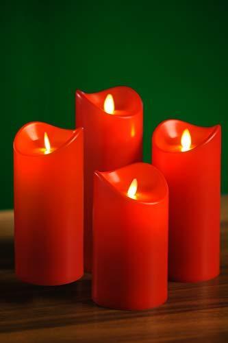 Künstlicher Adventskranz mit Lichterkette und 4 LED Kerzen   Batteriebetrieben   Sicher in der Anwendung   Tannenkranz mit Zapfen und Beeren   Ø 40cm - 5