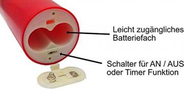 Künstlicher Adventskranz mit Lichterkette und 4 LED Kerzen   Batteriebetrieben   Sicher in der Anwendung   Tannenkranz mit Zapfen und Beeren   Ø 40cm - 7