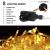 LED Lichtervorhang,12M 480 Led PECCIDER 8 Modi Lichterkette Eisregen Vorhang strombetrieben,Lichterkette außen&innen, Schlafzimmer Hochzeit Weihnachten Party (Warmweiß) - 4