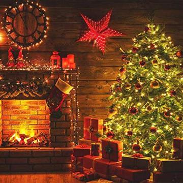 Lichterkette Weihnachtsbaum, LED Lichterkette mit 300 LED in warm weiß, 8 Leuchtmodi Dimmbar, EU Stecker, IP44 Wasserdicht, Lichterkette für Party, Feier, Hochzeit, Weihnachtsschmuck, Innen und Außen - 5