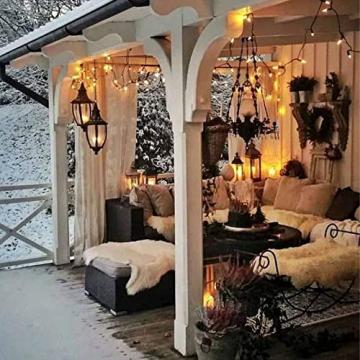 Lichterkette Weihnachtsbaum, LED Lichterkette mit 300 LED in warm weiß, 8 Leuchtmodi Dimmbar, EU Stecker, IP44 Wasserdicht, Lichterkette für Party, Feier, Hochzeit, Weihnachtsschmuck, Innen und Außen - 7