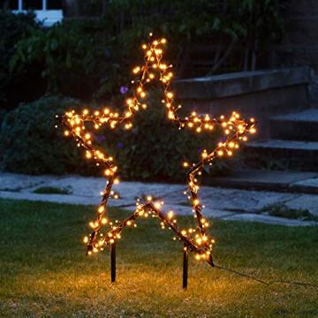 Lights4fun 255er LED Cluster Stern Silhouette warmweiß Weihnachtsbeleuchtung Außen 31V - 1