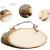 Liuer Rund Natur Holzscheiben 3PCS Holz Log Scheiben mit Baumrinde Unbehandeltes DIY Handwerk Dekoration Holz Tischdeko Hochzeits Weihnachten Baum Anhänger (1CM Dicke) - 3