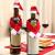 LOOGI Santa Hut Schal Mini Weihnachten Besteckhalter Weihnachtsdeko Bestecktasche Weihnachtsmütze Tischdeko 10 Stück - 4