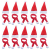 LOOGI Santa Hut Schal Mini Weihnachten Besteckhalter Weihnachtsdeko Bestecktasche Weihnachtsmütze Tischdeko 10 Stück - 1
