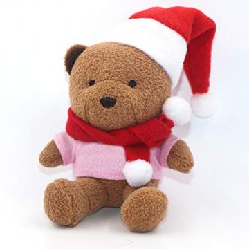 LOOGI Santa Hut Schal Mini Weihnachten Besteckhalter Weihnachtsdeko Bestecktasche Weihnachtsmütze Tischdeko 10 Stück - 8