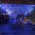Luccase LED Vorhang Lichte 5 x 0,8 m 216 LED Wasserdichtes Lichterketten Lcicle Light Ausziehbares Licht mit Funkelndem Vorhang Fenster Dekor Weihnachtslicht (Blau) - 2