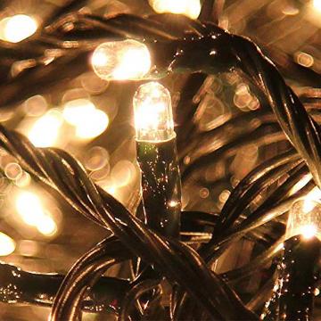 LZQ LED Lichterkette Außen Innen Wasserdicht IP44 Weihnachtsbeleuchtung mit 8 Leuchtmodi - für Innen Außen Garten Party Deko (80M 800 LED Warmweiß) - 7
