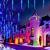 Meteorschauer Regen Lichter, 480 LEDs 50cm 10 Röhren Meteorschauer Lichterkette Außen, IP65 Wasserdichte Schneefall Lichterkette, Fallende Lichter für Außen balkon Garten Weihnachten Dekoration - 2