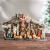 PEARL Krippen: Weihnachtskrippe aus Polyresin mit 11 handbemalten Figuren (Krippe Weihnachten) - 3
