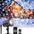 Projektor weihnachten außen GREEMPIRE LED Projektor lampe Schneeflocke Schneefall Lichter mit Fernbedienung,Wasserdicht projektionslampe Weihnachtsbeleuchtung für kinder baby party Innen und outdoor - 1