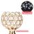 Queta Kerzenständer Kristall Kerzenhalter Vintage 2er Set für Stumpenkerzen, Wohnzimmer Kristall Deko, Tischdeko Hochzeit Weihnachten Geburtstag 32cm&37cm Höhe (Gold) - 3