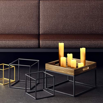 Relaxdays LED Kerzen Set, 6 Echtwachskerzen flammenlos, elektrische Kerzen flackernd, Batterie, Durchmesser 5 cm, creme - 2