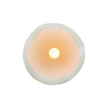 Relaxdays LED Kerzen Set, 6 Echtwachskerzen flammenlos, elektrische Kerzen flackernd, Batterie, Durchmesser 5 cm, creme - 8