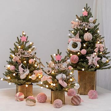 Shelf 45 cm, 60 cm, 90 cm vorbeleuchteter vordekorierter künstlicher Weihnachtsbaum aus Fichte, Feiertags-Weihnachtsbaum für Zuhause, Büro, Partydekoration - 3