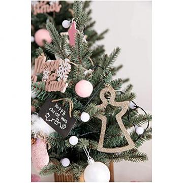 Shelf 45 cm, 60 cm, 90 cm vorbeleuchteter vordekorierter künstlicher Weihnachtsbaum aus Fichte, Feiertags-Weihnachtsbaum für Zuhause, Büro, Partydekoration - 4
