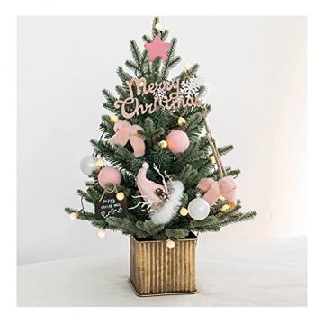 Shelf 45 cm, 60 cm, 90 cm vorbeleuchteter vordekorierter künstlicher Weihnachtsbaum aus Fichte, Feiertags-Weihnachtsbaum für Zuhause, Büro, Partydekoration - 1