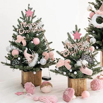 Shelf 45 cm, 60 cm, 90 cm vorbeleuchteter vordekorierter künstlicher Weihnachtsbaum aus Fichte, Feiertags-Weihnachtsbaum für Zuhause, Büro, Partydekoration - 5