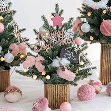 Shelf 45 cm, 60 cm, 90 cm vorbeleuchteter vordekorierter künstlicher Weihnachtsbaum aus Fichte, Feiertags-Weihnachtsbaum für Zuhause, Büro, Partydekoration - 6