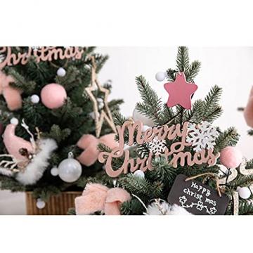 Shelf 45 cm, 60 cm, 90 cm vorbeleuchteter vordekorierter künstlicher Weihnachtsbaum aus Fichte, Feiertags-Weihnachtsbaum für Zuhause, Büro, Partydekoration - 7
