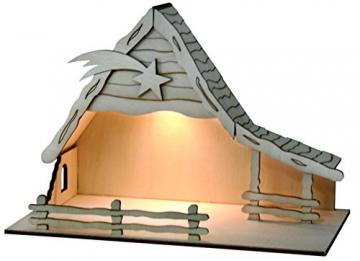 Sol Expert Group 44411 - Solar Weihnachtkrippe Bethlehem, Bausatz, Holz, Natur - 1