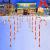 Surakey Festive LED Lichterkette - 10 Stück Weihnachten Beleuchtete Zuckerstangen Lichter Weihnachtsweg Marker, für Garten Dekoration, Gartenstecker Balkon Weihnachtsbeleuchtung Deko Außen - 1