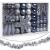 Sweelov Weihnachtsbaum Schmuck 73-teilig Weihnachtskugeln Glitzernd Kunststoff Christbaumschmuck Baumspitze Girlande und Sterne Silber/Grau/Blau, Ø6/4cm - 1