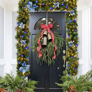 TDCQ Tannengirlande Weihnachtsdeko,Tannengirlande Künstlich Led,Tannengirlande mit Lichterkette,Tannengirlande,Weihnachten Girlande Tanne,Weihnachtsgirlande - 4