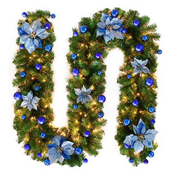 TDCQ Tannengirlande Weihnachtsdeko,Tannengirlande Künstlich Led,Tannengirlande mit Lichterkette,Tannengirlande,Weihnachten Girlande Tanne,Weihnachtsgirlande - 1