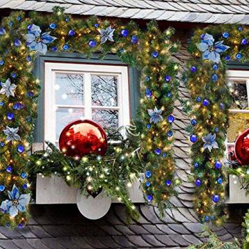 TDCQ Tannengirlande Weihnachtsdeko,Tannengirlande Künstlich Led,Tannengirlande mit Lichterkette,Tannengirlande,Weihnachten Girlande Tanne,Weihnachtsgirlande - 5