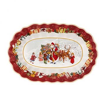 Toy's Fantasy Schale oval groß, Santa & Kinder 29x19cmx5,5cm - 1