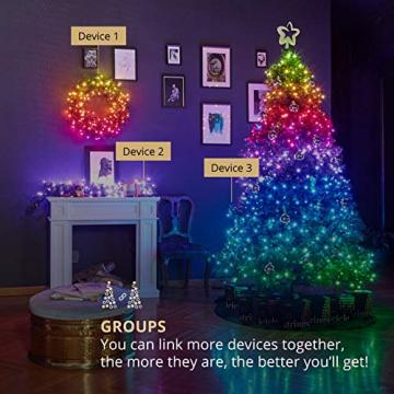 Twinkly - TWS600STP 600 RGB-Multicolor LED Lichterkette - App-gesteuerte LED Weihnachtsbeleuchtung mit schwarzem Kabel (48m) - Unterstützt IoT & Razer Chroma - Dekorationen für Innen- und Außenbereich - 4