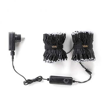 Twinkly - TWS600STP 600 RGB-Multicolor LED Lichterkette - App-gesteuerte LED Weihnachtsbeleuchtung mit schwarzem Kabel (48m) - Unterstützt IoT & Razer Chroma - Dekorationen für Innen- und Außenbereich - 6