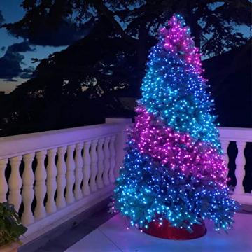 Twinkly - TWS600STP 600 RGB-Multicolor LED Lichterkette - App-gesteuerte LED Weihnachtsbeleuchtung mit schwarzem Kabel (48m) - Unterstützt IoT & Razer Chroma - Dekorationen für Innen- und Außenbereich - 8