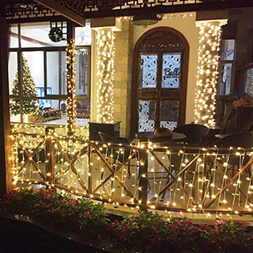 UISEBRT 50m 500 LED Lichterkette Außen Innen Dekoration für Weihnachten, Ostern, Halloween, Hochzeit, Party, mit 8 Leuchtmodi, Wasserdicht IP44 (50m 500LED, Warmweiß) - 6