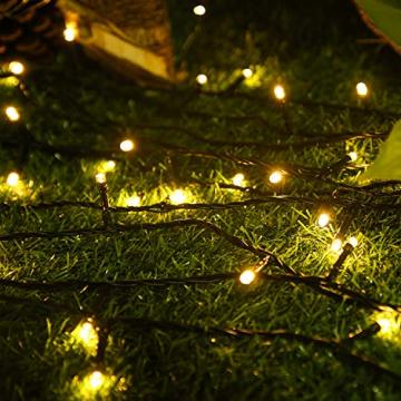 UISEBRT 50m 500 LED Lichterkette Außen Innen Dekoration für Weihnachten, Ostern, Halloween, Hochzeit, Party, mit 8 Leuchtmodi, Wasserdicht IP44 (50m 500LED, Warmweiß) - 7