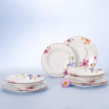 Villeroy & Boch 1041007609 Gechirr-Service, Porzellan, floral, 34,8 x 19,7 x 32,4 cm, 12 Einheiten - 2