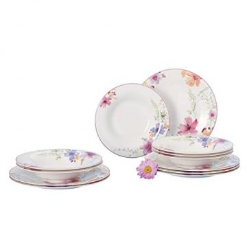 Villeroy & Boch 1041007609 Gechirr-Service, Porzellan, floral, 34,8 x 19,7 x 32,4 cm, 12 Einheiten - 3