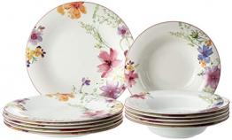 Villeroy & Boch 1041007609 Gechirr-Service, Porzellan, floral, 34,8 x 19,7 x 32,4 cm, 12 Einheiten - 1