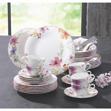 Villeroy & Boch 1041007609 Gechirr-Service, Porzellan, floral, 34,8 x 19,7 x 32,4 cm, 12 Einheiten - 4