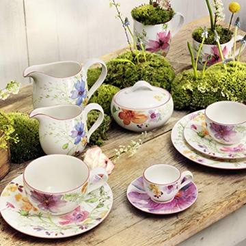 Villeroy & Boch 1041007609 Gechirr-Service, Porzellan, floral, 34,8 x 19,7 x 32,4 cm, 12 Einheiten - 6