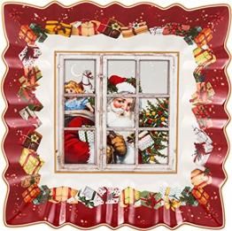 Villeroy & Boch 1483323718 Toy's Fantasy Schale eckig Santa (1 Stück) - 1