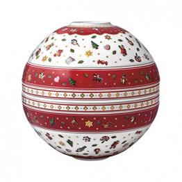 Villeroy & Boch - Toy's Delight La Boule, weihnachtliches Geschirr-Designobjekt, Premium Porzellan, spülmaschinenfest, bunt, 24 x 24 cm - 1
