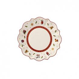 Villeroy und Boch Toy's Delight Brotteller, 17 cm, Premium Porzellan, Weiß/Rot - 1