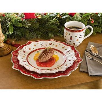 Villeroy und Boch Toy's Delight Brotteller, 17 cm, Premium Porzellan, Weiß/Rot - 2
