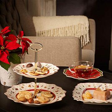 Villeroy und Boch Toy's Delight Kleine Etagere, Premium Porzellan, Weiß/Rot - 2