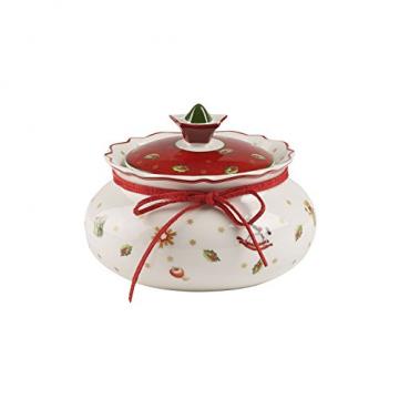 Villeroy und Boch Toy's Delight Kleine Vorratsdose, Premium Porzellan, Weiß/Rot - 1