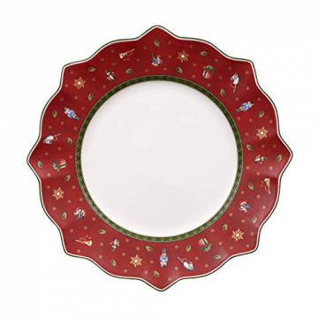 Villeroy und Boch Toy's Delight Roter Speiseteller, 29 cm, Premium Porzellan - 1