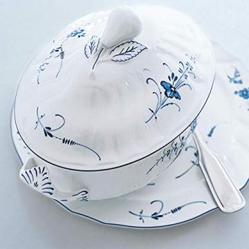 Villeroy und Boch Vieux Luxembourg Terrine, Premium Porzellan, weiß/blau - 3
